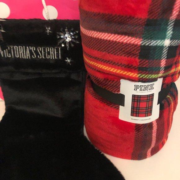Victoria's Secret Plush Blanket & Stocking
